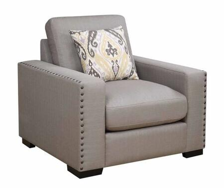 Donny Osmond Home 508043 Rosanna Series Fabric Armchair with Wood Frame in Dark Grey