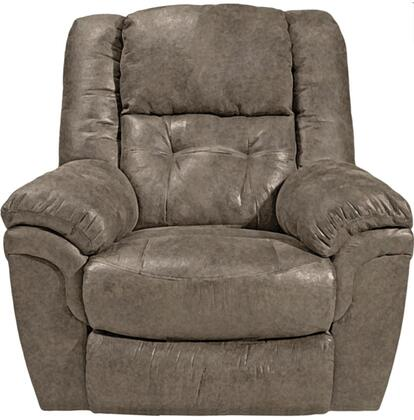 """Catnapper Joyner Collection 44"""" Lay Flat Recliner with Tufted Back, Top-Stitching Treatment, Coil Seating Comfer Gel and Durable Faux Leather Fabric Upholstery"""
