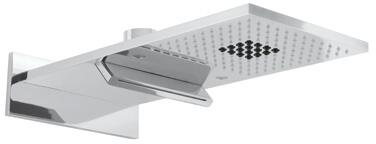 "Rohl 36850 Spa Shower Collection 20"" Chromotherapy Spa Showerhead with Multi-Function Spray Pattern and Lighting in"