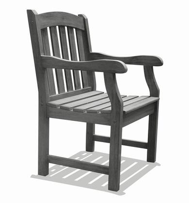 Vifah V1295  Wood Frame  Patio Arm Chair