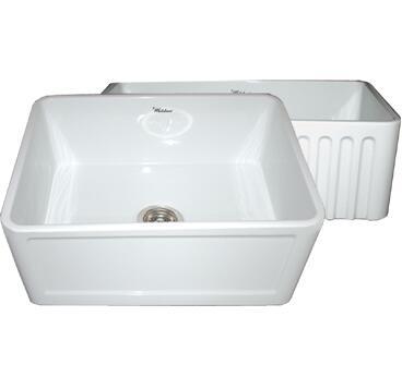 Whitehaus WHFLCON2418WH Kitchen Sink
