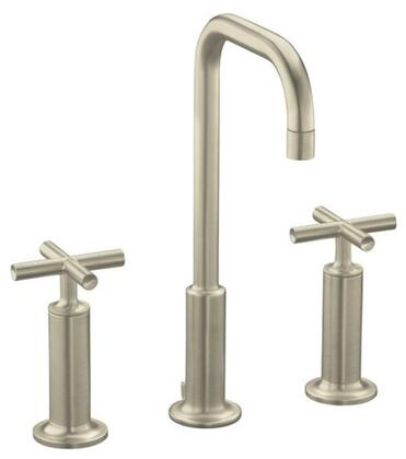 Kohler K-14408-3- Double Handle Widespread Bathroom Faucet with Metal Cross Handles from the Purist Series: