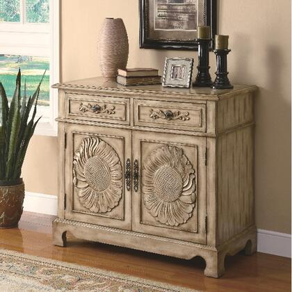 Coaster 950134 Accent Cabinets Series Freestanding Wood 2 Drawers Cabinet