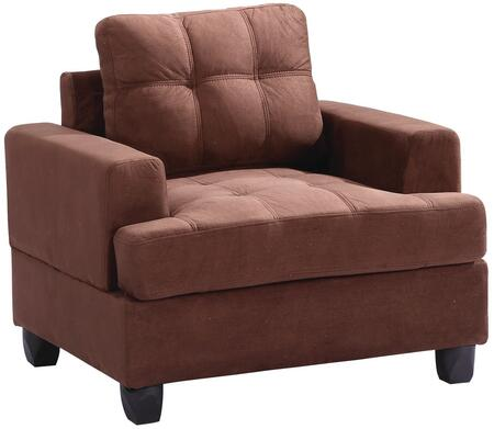 Glory Furniture G512AC Suede Armchair in Chocolate