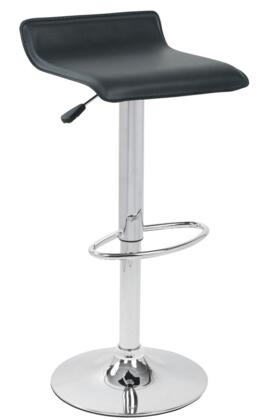 LumiSource BSTWALEBK Ale Series Residential Bycast Leather Upholstered Bar Stool