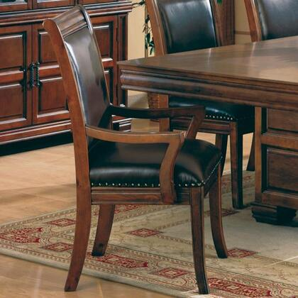 Coaster 3637 Westminster Series Traditional Leather Wood Frame Dining Room Chair