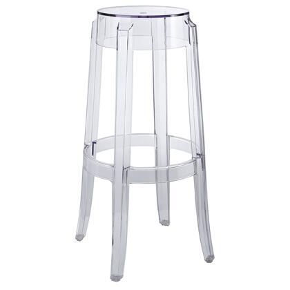 "Modway EEI-170 Casper 29.5"" Bar Stool with Modern Design, Transparent Polycarbonate Construction, Non-Marking Feet, and Fully Assembly"