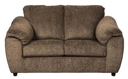 """Signature Design by Ashley Azaline Collection 9320X35 66"""" Loveseat with Pillow Top Arms, Loose Seat Cushions and Polyester Upholstery in"""