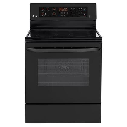 "LG LRE3083S 30"" 6.3 cu. ft. Capacity Freestanding Electric Range with IntuiTouch Keypad Control System, 5 Cooktop Elements, Storage Drawer, Auto Oven Shutoff, 12-Hour Delay-Bake in"