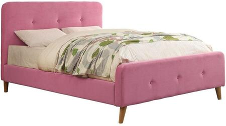 Furniture of America CM7272PKTBED Barney Series  Twin Size Platform Bed