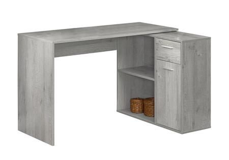 """Monarch I735DESK 46"""" Computer Desk with 2 Open Shelves, Drawer and Cabinet Door in"""