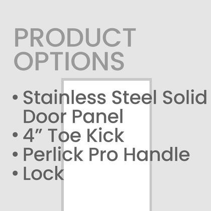 Perlick Door Panel, Handle and Toekick Only. Unit Sold Separately