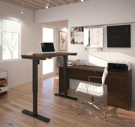 Bestar Furniture 99885 Prestige + L-Desk including Electric Height Adjustable Table