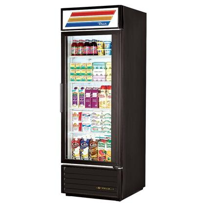 True GDM-23 Refrigerator Merchandiser with 23 Cu. Ft. Capacity, LED Lighting, and Thermal Insulated Glass Swing-Doors