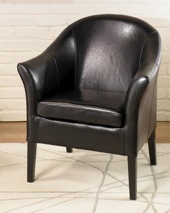 Armen Living LCMC0011X 1404 Club Chair with California Fire Retardant (CFR) Rated, Comfortable Padding and Leather Upholstery in
