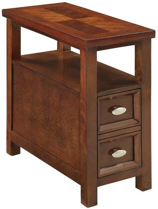 Acme Furniture 80921 Perrie Series Transitional Wood Rectangular 1 Drawers End Table