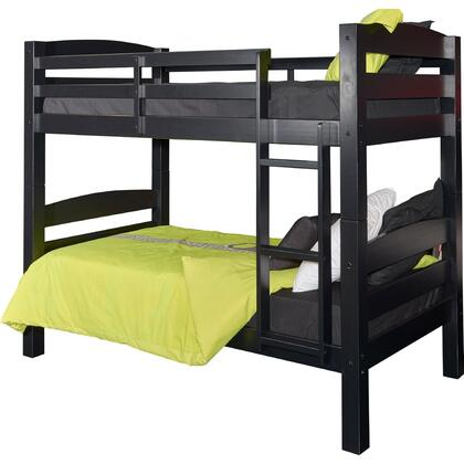 "Powell Powell Levi Collection D1027Y16 80"" Twin Over Twin Bunk Bed with Built-in Heavy Ladder, Detachable Frame and Pine Wood in"