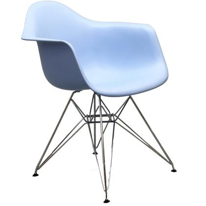 Modway EEI181BLU Paris Series  Metal Frame Dining Room Chair