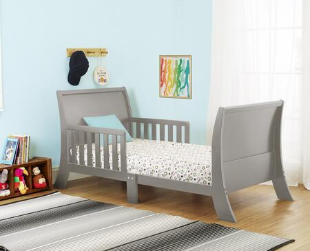 """Orbelle Louis Philippe Collection 416X 53"""" Toddler Bed with Two Side Safety Rails, Curved Headboard & Footboard and Solid Wood Construction in"""