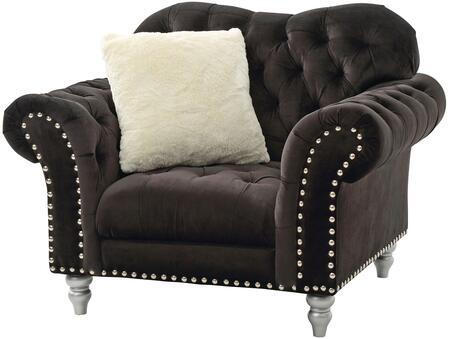 Glory Furniture G709C Velvet Armchair in Black