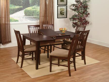 "Atlantic Furniture SHAKER4260BTDT Shaker Series 42x60 Butterfly Top Dining Table (Include 18"" Leaf):"