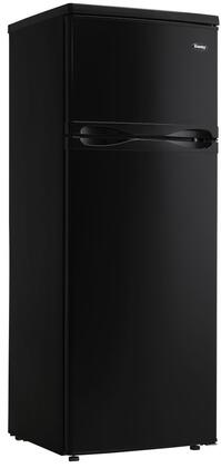 """Danby DPF073C1 22"""" Top Freezer Refrigerator with 7.3 cu. ft. Capacity, Energy Star Qualified, Mechanical Thermostat, Interior Light and Reversible Door Hinge in"""