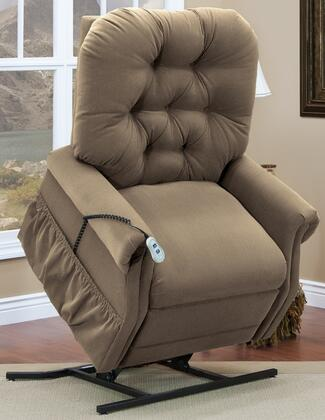 MedLift 3555AAC Contemporary Fabric Wood Frame  Recliners