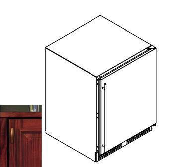 "Perlick HA24WB2R 23.88"" Freestanding Wine Cooler"