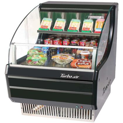 Turbo Air TOMS Low Profile Display Merchandiser with Environmental Friendly Refrigeration System, Standard Back-Guard and Anti-Rust Coating: Black Ext. and Int.