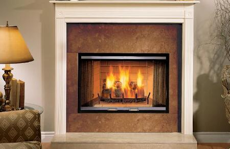 "Majestic S36A Sovereign 36"" Woodburning Fireplace with Tapered Firebox, Ash Management System, and Expansive Viewing Area"