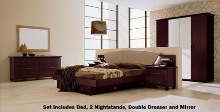 VIG Furniture VGCAMISSITALIA03EK Modrest Miss Italia Series 5 Piece Bedroom Set