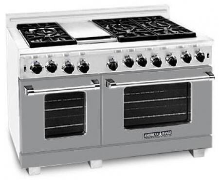 American Range ARR486GRLMG Heritage Classic Series Liquid Propane Freestanding Range with Sealed Burner Cooktop, 4.8 cu. ft. Primary Oven Capacity, in Gun Metal