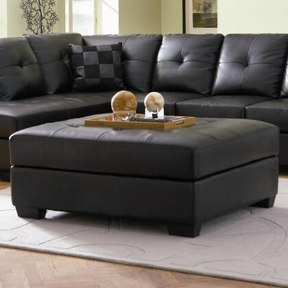 Coaster 500607 Darie Series Casual Bonded Leather Wood Frame Ottoman