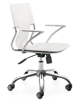 "Fine Mod Imports FMI2213WHITE 25"" Modern Office Chair"