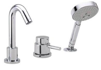 Hansgrohe 4127 3-Hole Thermostatic Tub Filler Trim from the Talis S Collection: