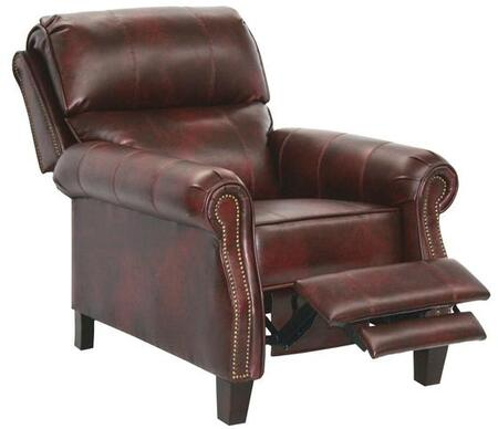 Catnapper 5539121840301840 Frazier Series Bonded Leather Armchair with Metal Frame in Bourbon