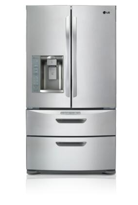 LG LMX28994ST  French Door Refrigerator with 26.5 cu. ft. Capacity in Stainless Steel
