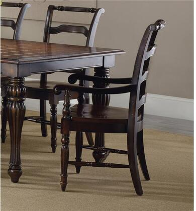 "Hooker Furniture Eastridge Series 5177-753 39"" Traditional-Style Dining Room Ladderback Chair with Turned Legs, Carved Detailing and Stretchers in Dark Burnished Cherry (Sold in 2 Chairs per Order/Priced Individually)"