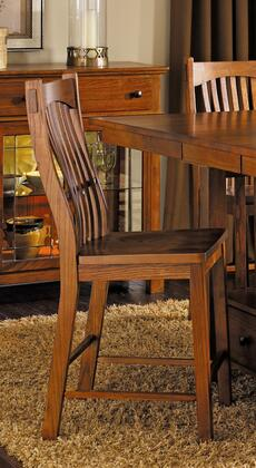 AAmerica 375K Laurelhurst Slatback Bar stool Oak Ergonomically Designed for Comfort with 23% to 28% NC Top Coat in