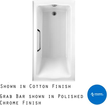 Toto ABY782P12YBNX Clayton Series Tile-In Soaker Bathtub with Acrylic Construction, Slip-Resistant Surface, and Brushed Nickel Grab Bar, Sedona Beige Finish