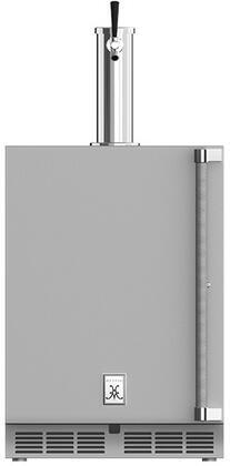 """Hestan GFDS 24"""" Outdoor Single Faucet Beer Dispenser with Solid Locking Door"""