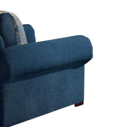 Chelsea Home Furniture 3550CH Marsha Series Polyblend Armchair with Wood Frame in Tahoe & Boomerang Navy