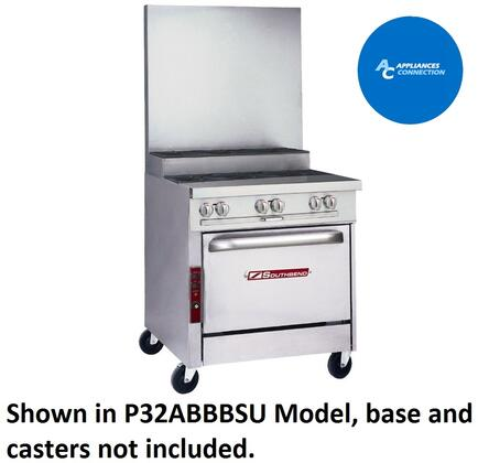 """Southbend P32BBBSU Platinum Series 32"""" Sectional Open-Top Range with Stainless Steel Construction, Three Standard Non-Clogging Burners, and Three Step-Up Burners, Up to 32000 BTUs (Natural Gas)/30000 BTUs (Liquid Propane)"""