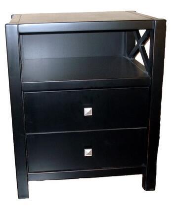 Linon 86109C12401KDU Anna Series Contemporary  End Table