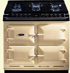 AGA A64LPCRM  Dual Fuel Freestanding Range with Sealed Burner Cooktop, 4.5 cu. ft. Primary Oven Capacity, in Cream