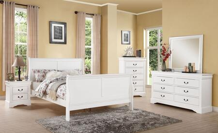 Acme Furniture 24510F5PC Louis Philippe III Full Bedroom Set