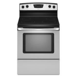 Amana AER6011VAS AER6011 Series Electric Freestanding Range with Smoothtop Cooktop, 5.3 cu. ft. Primary Oven Capacity, Storage in Stainless Steel