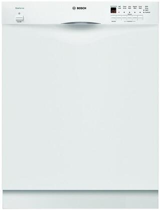 Bosch SHE43P12UC 300 Series Built-In Full Console Dishwasher with in White