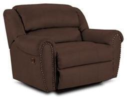 Lane Furniture 21414186598721 Summerlin Series Transitional Leather Wood Frame  Recliners