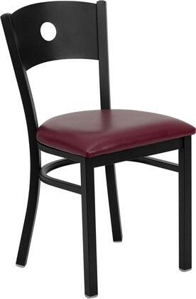Flash Furniture XUDG60119CIRBURVGG Hercules Series Contemporary Vinyl Metal Frame Dining Room Chair